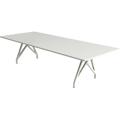 "Think Tank Rectangular Conference Table Finish: Gloss White, Size: 29"" H x 42"" W x 120"" D"