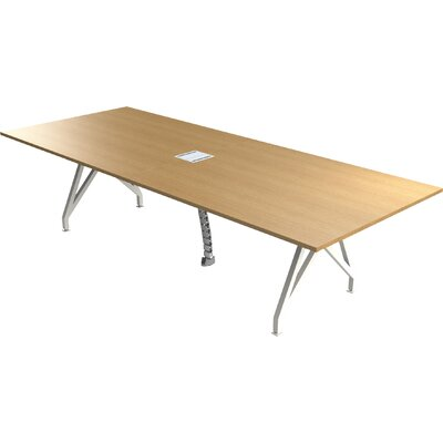 "Think Tank Rectangular Conference Table Finish: Maple, Size: 29"" H x 42"" W x 120"" D"