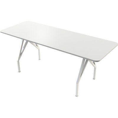 "Think Tank Rectangular Conference Table Finish: White, Size: 42"" H x 36"" W x 96"" D"