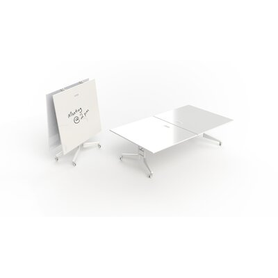 "Nomad Rectangular 30""H x 60""W x 108""L Conference Table Finish: White Dry Erase"