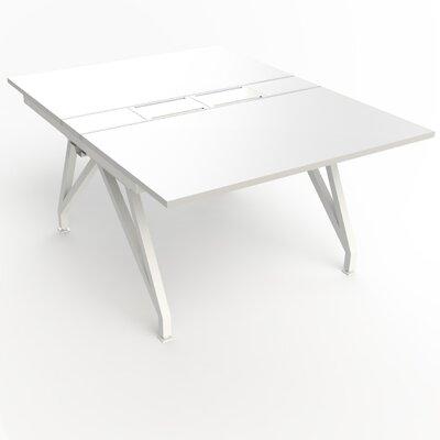 """EYHOV Rail Desk Size: 29"""" H x 48"""" W x 63"""" D, Color (Top): Matte White"""