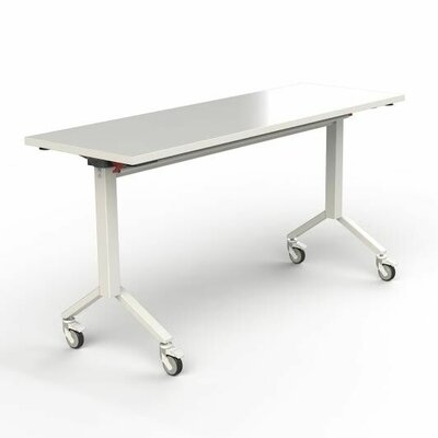60'' W Flip Top Training Table Finish: White