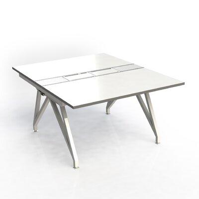 Eyhov Desk Finish: White Gloss/Storm Gray