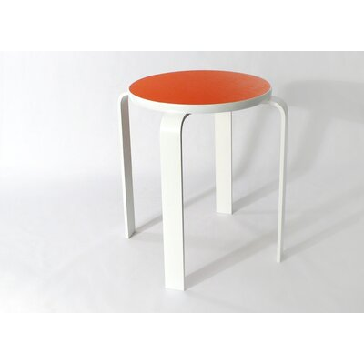 Bolla Core Stackable Accent Stool Color: Tangerine