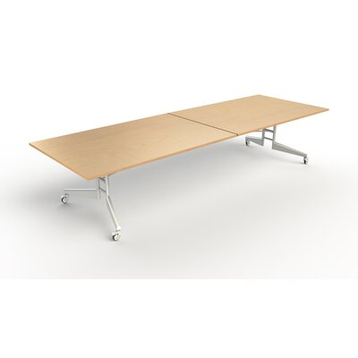 "Nomad Rectangular 86""H x 48""W x 144""L Conference Table Finish: Maple"