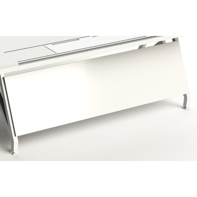 "EYHOV Workstations Accessories Desk Privacy Panel Finish: White, Size: 18"" H x 70"" W x 1"" D"