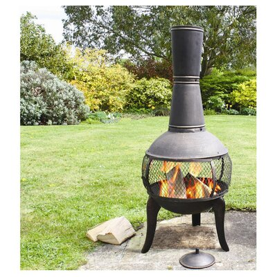 Tuscan Glo Steel Wood Burning Chiminea