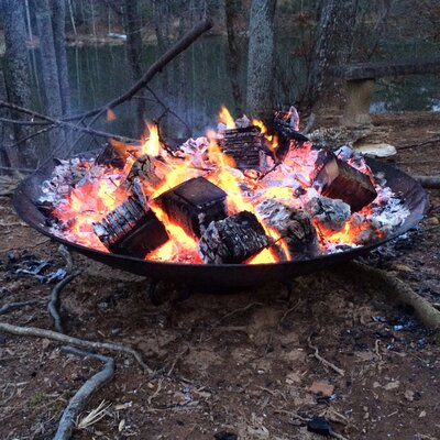 Safari Cast Iron Wood Burning Fire Pit