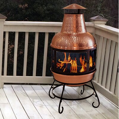 Cape Copper Wood Burning Chiminea