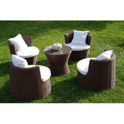 Geo Vase 5 Piece Sunbrella Conversational Set with Cushions