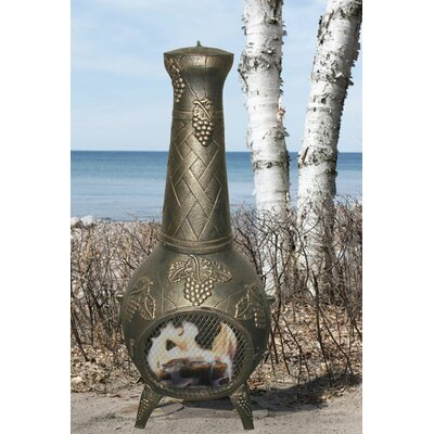 European Vineyard Aluminum Wood Burning Chiminea