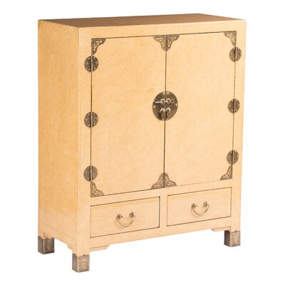 Eden Home Nishi Storage Accent Cabinet Color: Marbled Cream