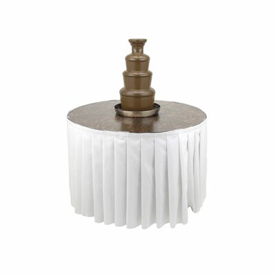 Metallic Chocolate Fountain Table Color: White