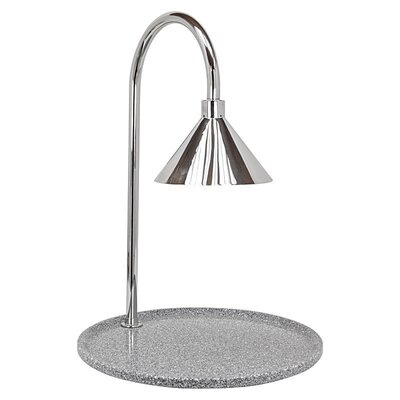 Contemporary Stainless Steel Single Lamp Round Carving Station Base Color: Gray Granite