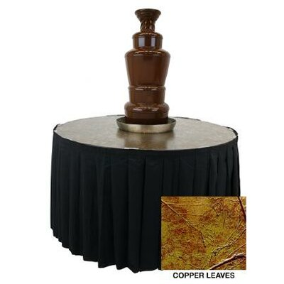 Metallic Chocolate Fountain Table Color: Black