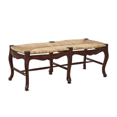 French Country Mahogany Bench Color: Walnut Brown on Mahogany