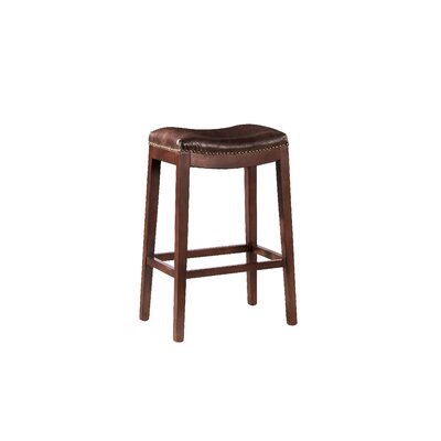 Leather Backless Bar Stool