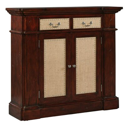 Burlap Benjamin 2 Door 2 Drawer Accent Cabinet