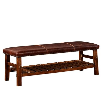 Powell Leather Bench