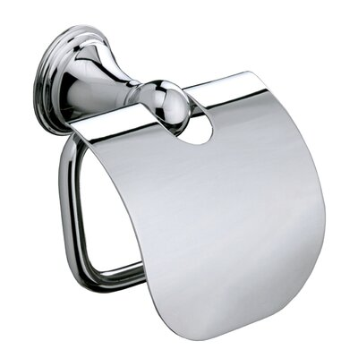 Sonia Genoa Wall Mounted Toilet Roll Holder with Flap