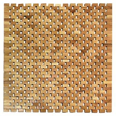 Vasic Teak Square Shower Mat