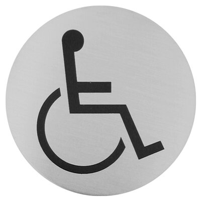 Urban Disabled Sign in Brushed