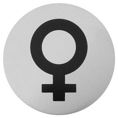 Urban Female Symbol Sign in Brushed