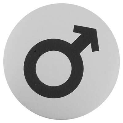 Urban Male Symbol Sign in Brushed