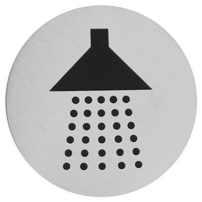 Urban Shower Sign in Brushed