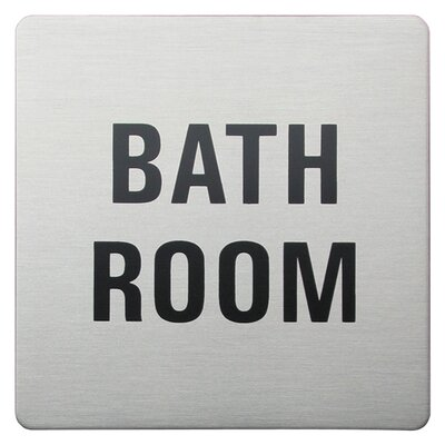 Urban Square Bathroom Sign in Brushed