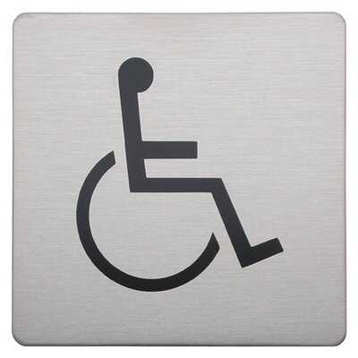 Urban Square Disabled Sign in Brushed