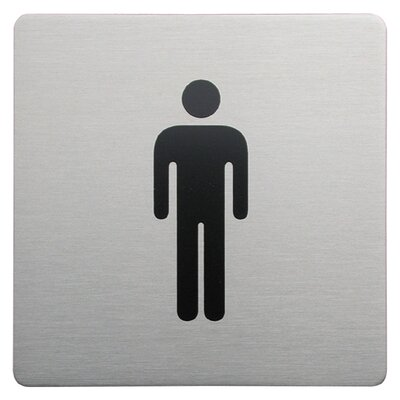 Urban Square Male Sign in Brushed