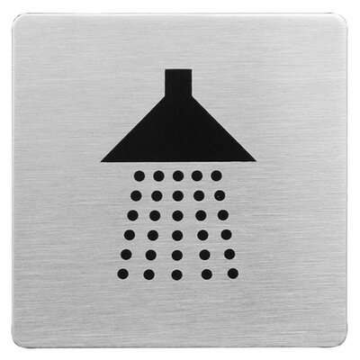 Urban Square Shower Sign in Brushed