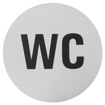 Urban WC Sign in Brushed