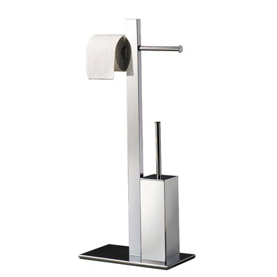 Gedy Bridge Free Standing Toilet Roll and Brush Holder