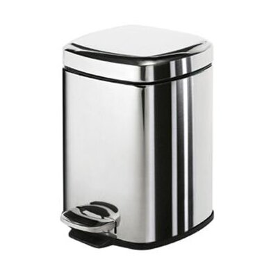 Gedy Gedy 3-Litre Square Pedal Rubbish Bin