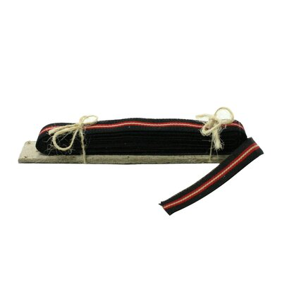5 Piece Signal Grosgrain Striped Ribbon (Set of 6) Color: Black/Red