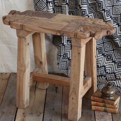 Arline Portico Salvaged Wood Accent Stool