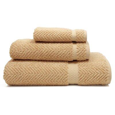 Huguetta Weave 3 Piece Turkish Cotton Towel Set Color: Warm Sand