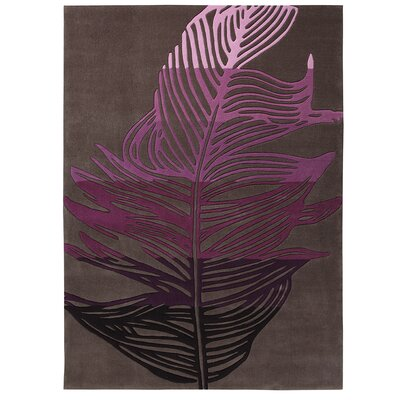 EspritHome Feather Hand Woven Multi-Coloured and Brown Rug
