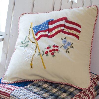 Taylor Linens God Bless America Porch Cotton Throw Pillow