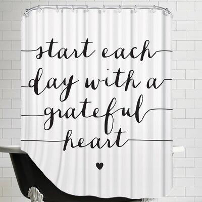 Williams Start Each Day with a Grateful Heart Shower Curtain