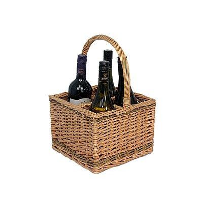 Willow Direct Ltd 4 Bottle Wine Picnic Basket
