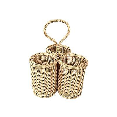 Willow Direct Ltd 3 Bottle Condiment Picnic Basket