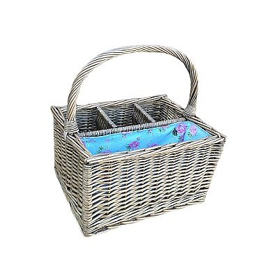 Willow Direct Ltd 3 Bottle Picnic Basket with Cottage Rose Lining