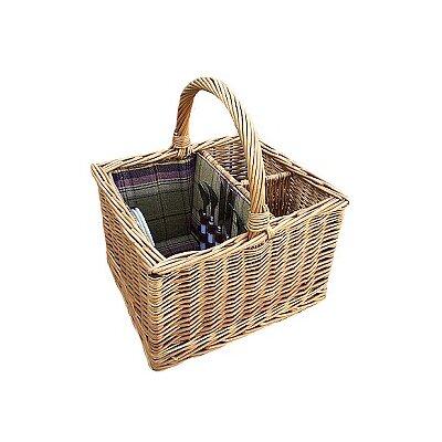 Willow Direct Ltd Deluxe 2 Bottle Picnic Basket