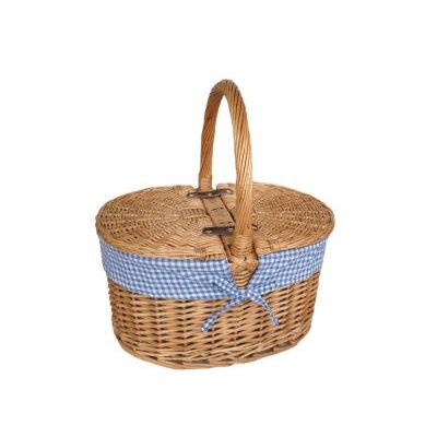 Willow Direct Ltd Lidded Picnic Basket with Check Lining