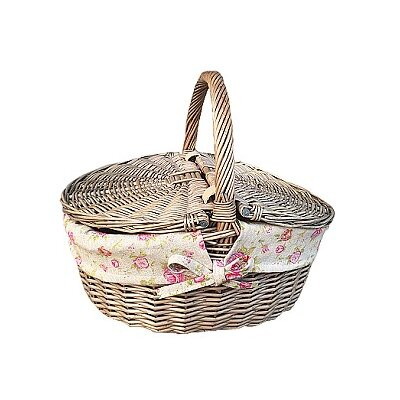 Willow Direct Ltd Picnic Basket with Garden Rose Lining
