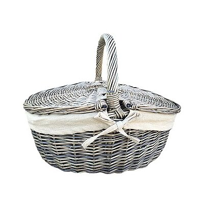 Willow Direct Ltd Picnic Basket with Oatmeal Lining