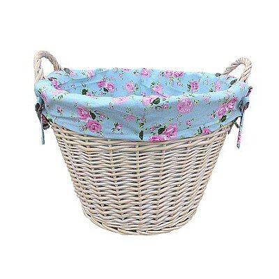 Willow Direct Ltd Log Basket with Cottage Rose Lining